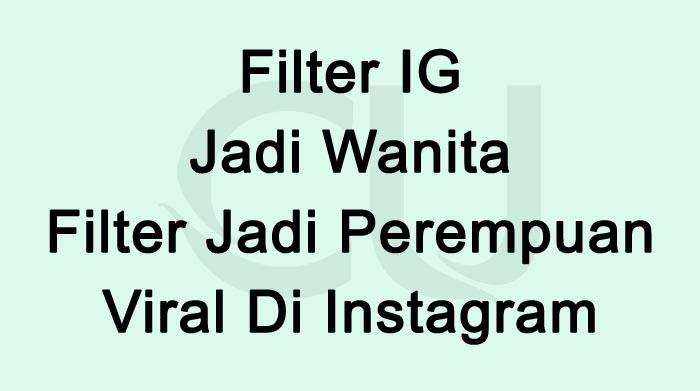 Filter IG Jadi Wanita Filter Jadi Perempuan Viral Di Tiktok