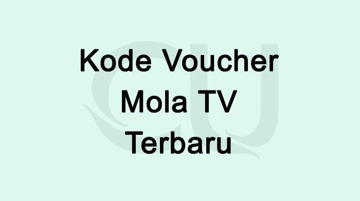 Kode Voucher Mola TV Terbaru Januari 2021