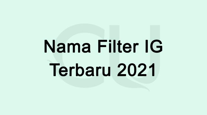 Nama Filter IG Terbaru 2021 Yang Lagi Hits Dan Viral